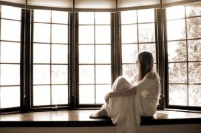 окна с фальш-накладками и шпросами