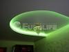 Двухуровневый натяжной потолок с закарнизной подсветкой
