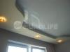 Двухуровневый натяжной потолок ПВХ с технологией скрытого карниза.