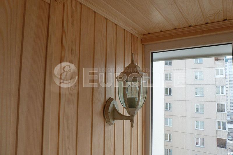 Отделка балконов и лоджий вагонкой - евро лайф.