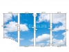 Мансардный потолок ПВХ с арт-печатью из четырех частей - схема