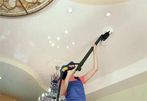 Как ухаживать за натяжными потолками