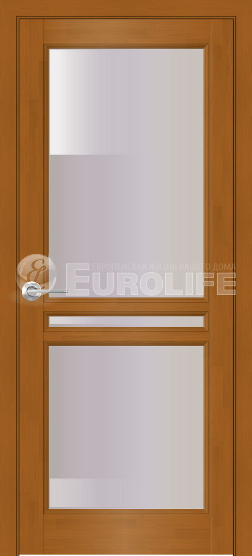 дверь в цвете американский орех