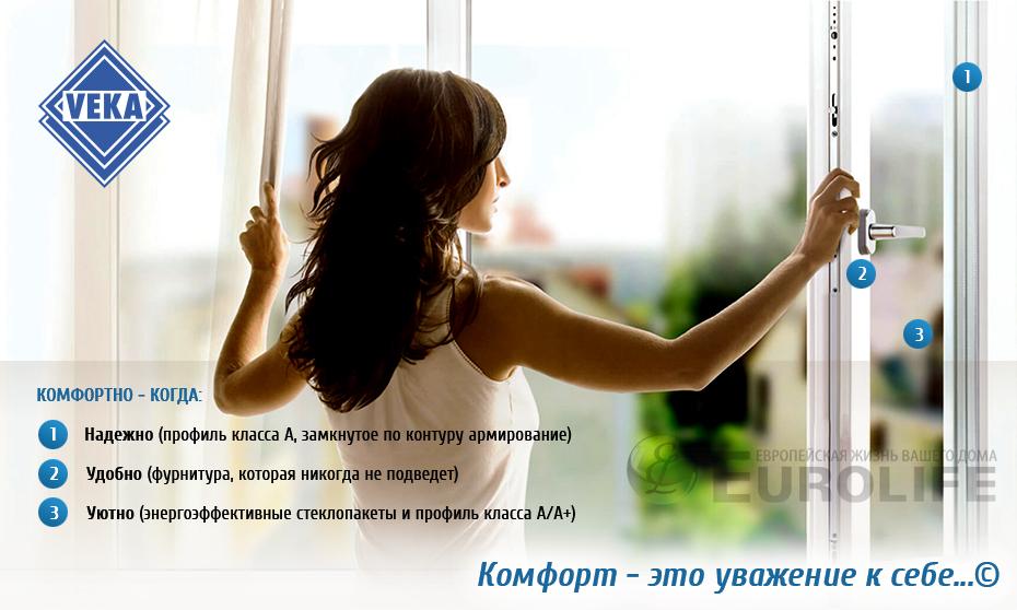 Пластиковые окна на заказ в СПб и ЛО. ПВХ окна Veka.