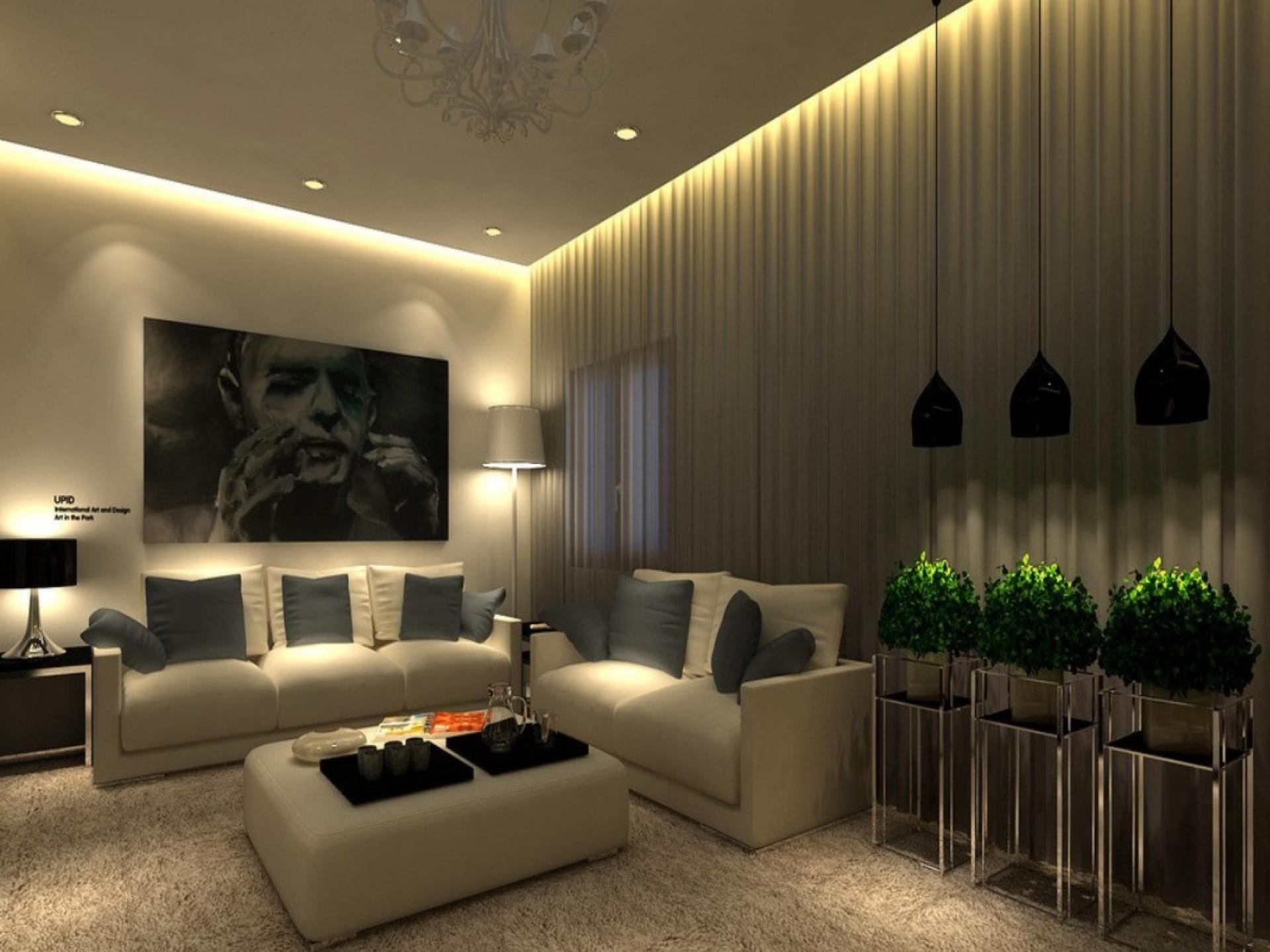 Потолки дизайн с подсветкой
