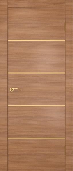 Межкомнатная дверь с алюминиевыми вставками