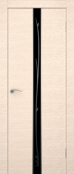 Дверь экошпон со стеклом