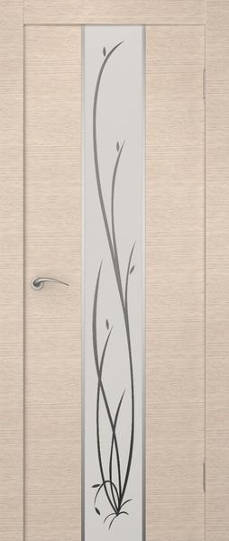 Беленый дуб экошпона и матовое стекло - наиболее спокойное сочетание.
