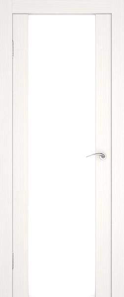 Практически белая дверь без кромки с уплотнителем.