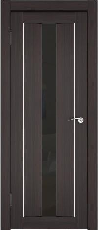 дверь в цвете венге со вставкой из тонированного стекла и уплотнителем - стильно, тихо, красиво.