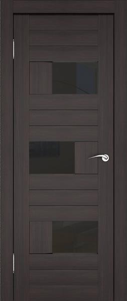 Дверь венге с тонированным вставками из стекла