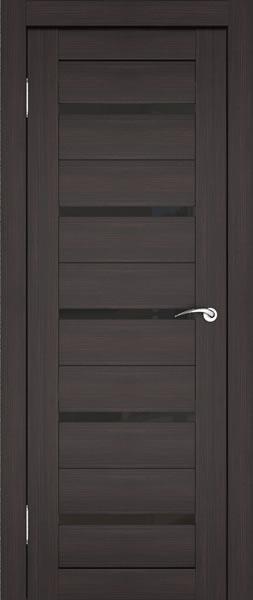 Дверь венге с черным стеклом