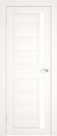Дверь без кромки с матовым стеклом