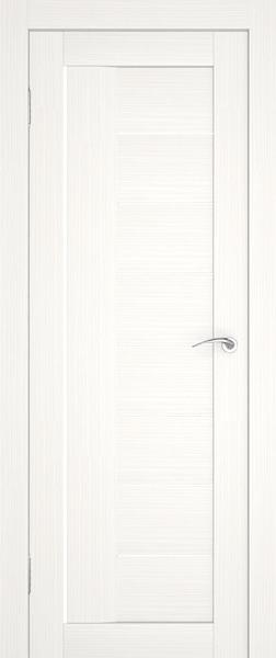 Дверь без кромки с узкими вставками из матового стекла