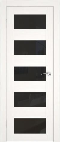 Черно-белая дверь, комбинация стекла и экошпона.