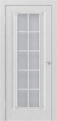 Белая дверь с классической расстекловкой