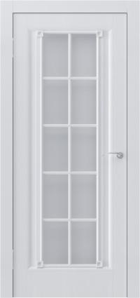 Идеально белая дверь с классическим остеклением