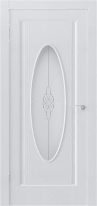 Белая дверь с овальным остеклением задаст тон любому интерьеру.