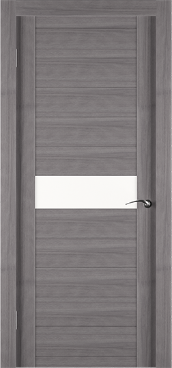 Экошпонированная дверь Eco грей со вставкой из стекла - Задор