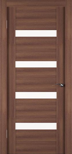 Экошпонированная дверь Eco орех со вставками из стекла - Задор