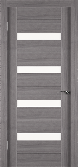 Экошпонированная дверь Eco грей со вставками из стекла - Задор