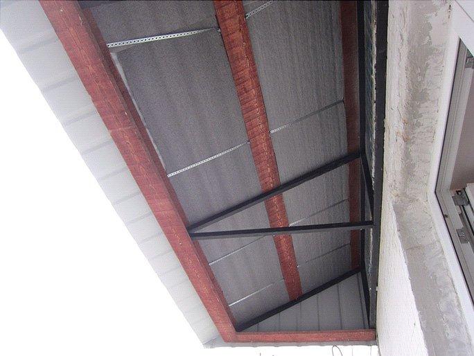 монтаж крыши - стенофон