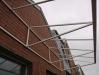 монтаж крыши из поликарбоната этап 1