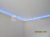 Двухуровневый натяжной потолок с декоративной скрытой подсветкой.