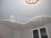 Двухуровневый натяжной потолок на кухне.
