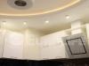 Двухуровневый натяжной потолок на кухне 9 кв.метров