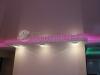 Глянцевый натяжной потолок с использованием светодиодной ленты на просвет.