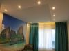 Тканевый потолок и гипсокартонная конструкция