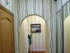 Простой натяжной потолок ПВХ в коридоре, глянцевый, белый, CTN – Франция