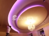 Процесс создания многоуровневого потолка - установка светильников и люстры
