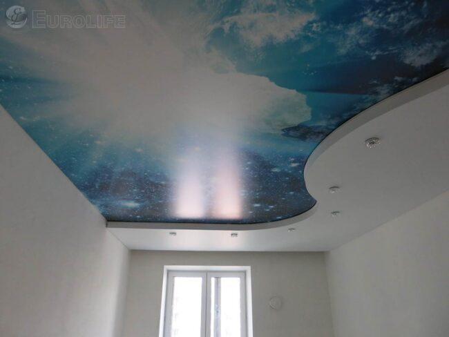 Фотопечать космоса - двухуровневый потолок