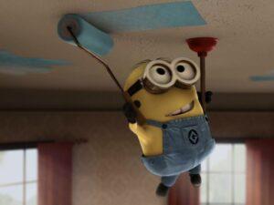 Позитивная фотопечать на потолке