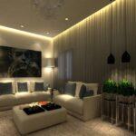 дизайн-проект с подсвеченным потолком