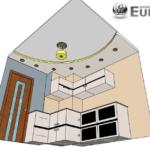 Объемный чертеж потолка