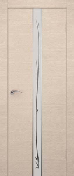 Дверь экошпон с матовым художественным стеклом