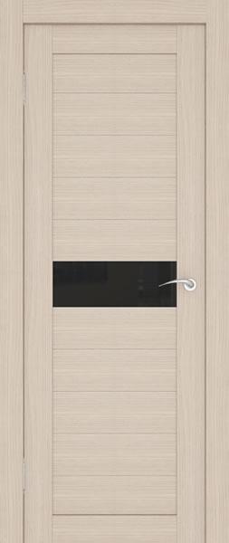 межкомнатная дверь со вставкой из тонированного стекла