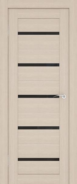 Дверь с узкими вставками из черного стекла