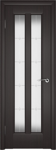 Дверь в цвете венге, с отделкой Zaflex - это практичность и стиль в одном флаконе.