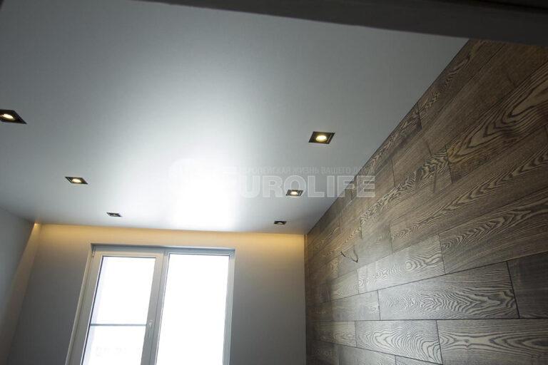бесщелевой потолок с подсветкой ниши для карниза