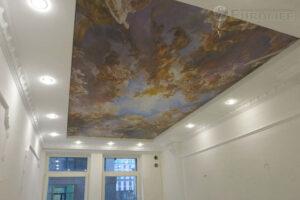 фотопечать фрески на потолке