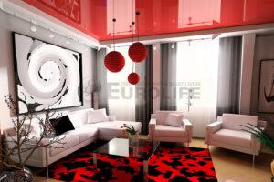 Глянцевый потолок – кардинальное преображение интерьера