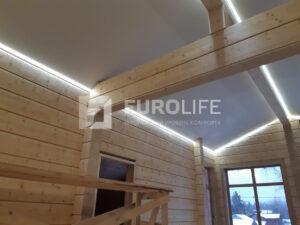 Натяжные потолки с контурной подсветкой под ключ