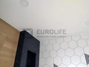 Классический натяжной потолок со светодиодными панелями