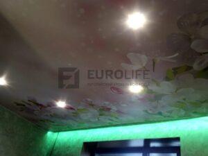 потолок с фотопечатью и подсветкой