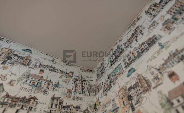 так выглядит здоровый внутренний угол потолка без изъянов
