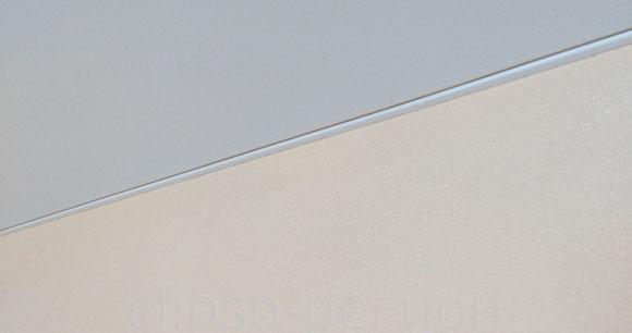 тканевый потолок багет по прямой